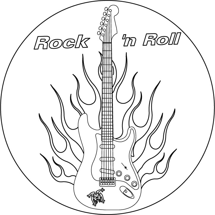 Rock And Roll Pages Printable Coloring